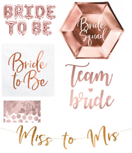 Bride To Be Miss To Mrs Glitter Banner Bunting Hen Party Rose Gold tattoos decor