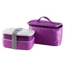 Cilio Lunchbox Brotdose Isoliertasche Brotbox  Vesperbox Transportdose Pink