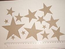 CHIPBOARD - STARS X 14PCS  - CRAFTY ORIGINALS