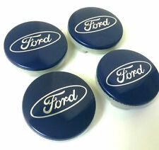 4PC SET Blue Wheel Hub Center Caps 54MM Ford Fiesta Edge Focus Fusion Escape
