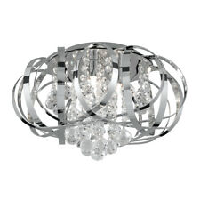 Searchlight 5973-3CC Tilly Chrome 3 Light Fitting Twined Strips Clear Glass