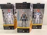 Star Wars The Clone Wars Black Series Ahsoka Tano & 2x 332nd Clone Trooper Lot