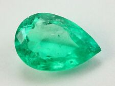 2.23Cts Stunning Rare Green Perfect Size Pear Shaped Natural Colombian Emerald