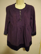 CREW CLOTHING PURPLE COTTON TOP SIZE 12