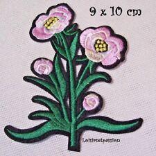BOUQUET FLEUR ROSE ** 9 x 10 cm ** APPLIQUE ÉCUSSON PATCH THERMOCOLLANT - C5974