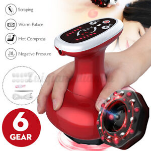 Electric Scraping Cupping Massage Guasha Suction Heating Therapy  &cn&