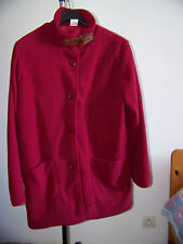 Manteau rouge style polaire Femme Anne de LANCAY T 42-44