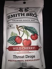 1 Bag Cough Throat Drops Smith Bros Brothers Wild Cherry 30 Drops  Exp 6/20