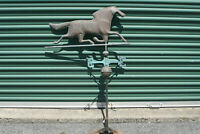 Antique FULL BODIED WORKING Horse Weather Vane Copper NSEW Weathervane Inv#VD40