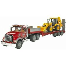 Bruder MACK Granite LKW Tieflader und Caterpillar Bulldozer, Baustellenfahrzeug