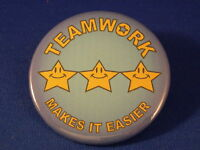 TEAMWORK... Lot of 12 BUTTONS pin school team club work