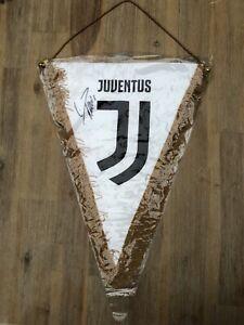 Cristiano Ronaldo Autogramm + Juventus Turin Wimpel signiert Unterschrift Trikot