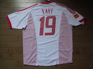 Spain #19 Xavi 100% Original Soccer Jersey Shirt XL 2002/03 Away BNWT [543]