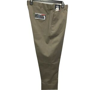 Roundtree & Yorke Travel Smart Ultimate Comfort Classic Fit Pants 48x34 Brown