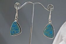 925 Sterling Silver Overlaid Copper Turquoise Droplet Earrings
