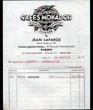 "VICHY (03) CAFES / TORREFACTION ""MOKADOR / Jean LAFARGE"" en 1950"