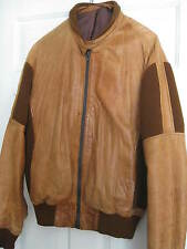Genuine RETRO 70's Real leather bomber jacket two tone