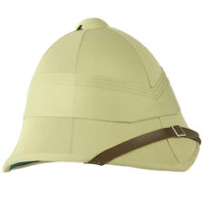 Military Style Classic British Army Tropical Pith Helmet Unbadged Replica Khaki