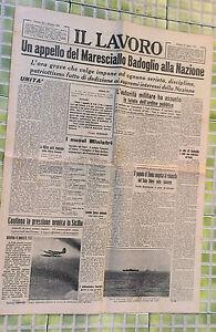 WW2 @ APPELLO DI BADOGLIO ALLA NAZIONE R@RO 27/LUGLIO/1943