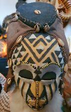 More details for african kuba queen nagadia mwash mask vintage congo tribal mask