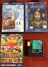 SEGA MEGA DRIVE GAMES X 4 JOB LOT LAWNMOWER MAN DESERT STRIKE GOLF MEGA GAMES 1