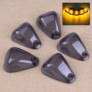 5x Cab Top Roof Smoked Lamps Light Lens Cover Fit For Ford F250 F350 F450 F550