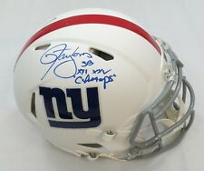 LAWRENCE TAYLOR SIGNED MATTE WHT GIANTS AUTHENTIC HELMET w/SB CHAMPS INS BECKETT