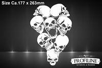 Airbrush Schablone Schädelhaufen | Pile of Skulls Stencil