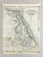 1848 Antique Map of Egypt Abyssinia Nubia 19th Century Hand Coloured Engraving