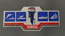 Autocollant Vintage « Yamaha – Moteur Bateaux » Très Bon Etat.