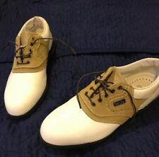 cheap for discount d9d51 0429a FootJoy Men's Golf Saddle Shoes Size 8 M DryJoy AquaFlex Leather System New