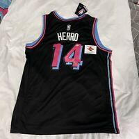 Tyler Herro  Miami Heat Autographed Black Nike Vice Nights Swingman Jersey w/coa