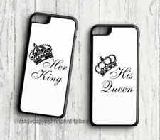 Premium King and Queen His and Her Phone couples cases Samsung s3-s9 iphone 4-9
