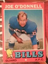 1971 Topps Joe O'Donnell Buffalo Bills #4 Football Card