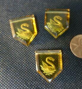 3   Vintage Czech Art DECO   figural  ART Glass jewelry  BEADS  SWANS