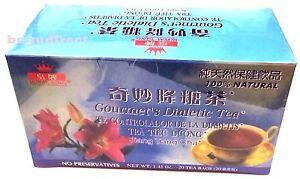 2 Boxes x 20 tea bags Royal King 100% Natural Gourmet`s Diabetics Herbal Tea