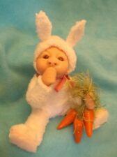 Ooak Artist Sculpture-Easter Bunny Suit Baby Doll Figure