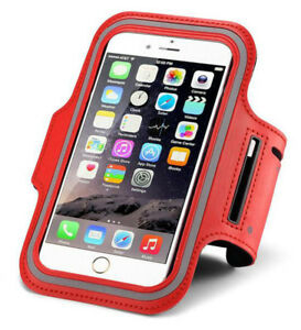 Red Sports Arm Band Mobile Phone Holder Running Jogging Gym Armband Exercise