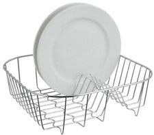 Square Dish Drainer Kitchen Sink Cutlery Utensil Rack Stand Drying Store Crome