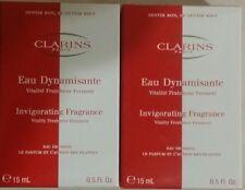 2×CLARINS Eau Dynamisante- Invigorating Fragrance, 2×15ml.