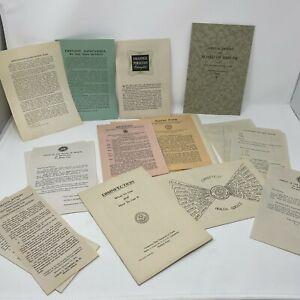 Vintage Medical Pamphlets Public Health State 1940s Measles Scarlet Fever Lot