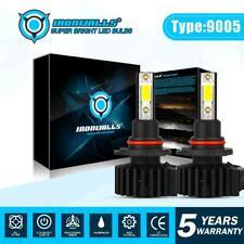 9005 HB3 LED Headlight Bulbs Kit 2200W 330000LM High Beam White Lamp Black Shell