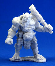 1 x CHEF OGRE - BONES REAPER figurine miniature jdr chieftain fantasy rpg 77005