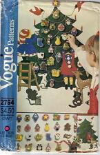 Vintage Vogue 2794 XMAS Advent Calendar Christmas Ornaments Sewing Pattern