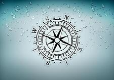 Sticker car motorcycle helmet vinyl compass nautical boat sailing anchor r2