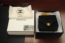 Chanel Vintage Black Velvet Handbag Gold Hardware