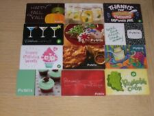 Publix   12 different new and used collectible gift cards
