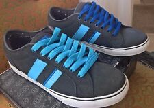 Men's Lakai Vintage Skate Shoe MJ 2 Select Charcoal Grey Suede Baby Blue 9.5
