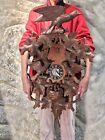 Super Large Vintage Germany Black Forest Strike Cuckoo Clock,2 Weight Driven