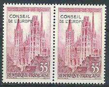 France 1958 Sc# 1O1 set Rouen Kathedral  Council of Europe office pair MNH